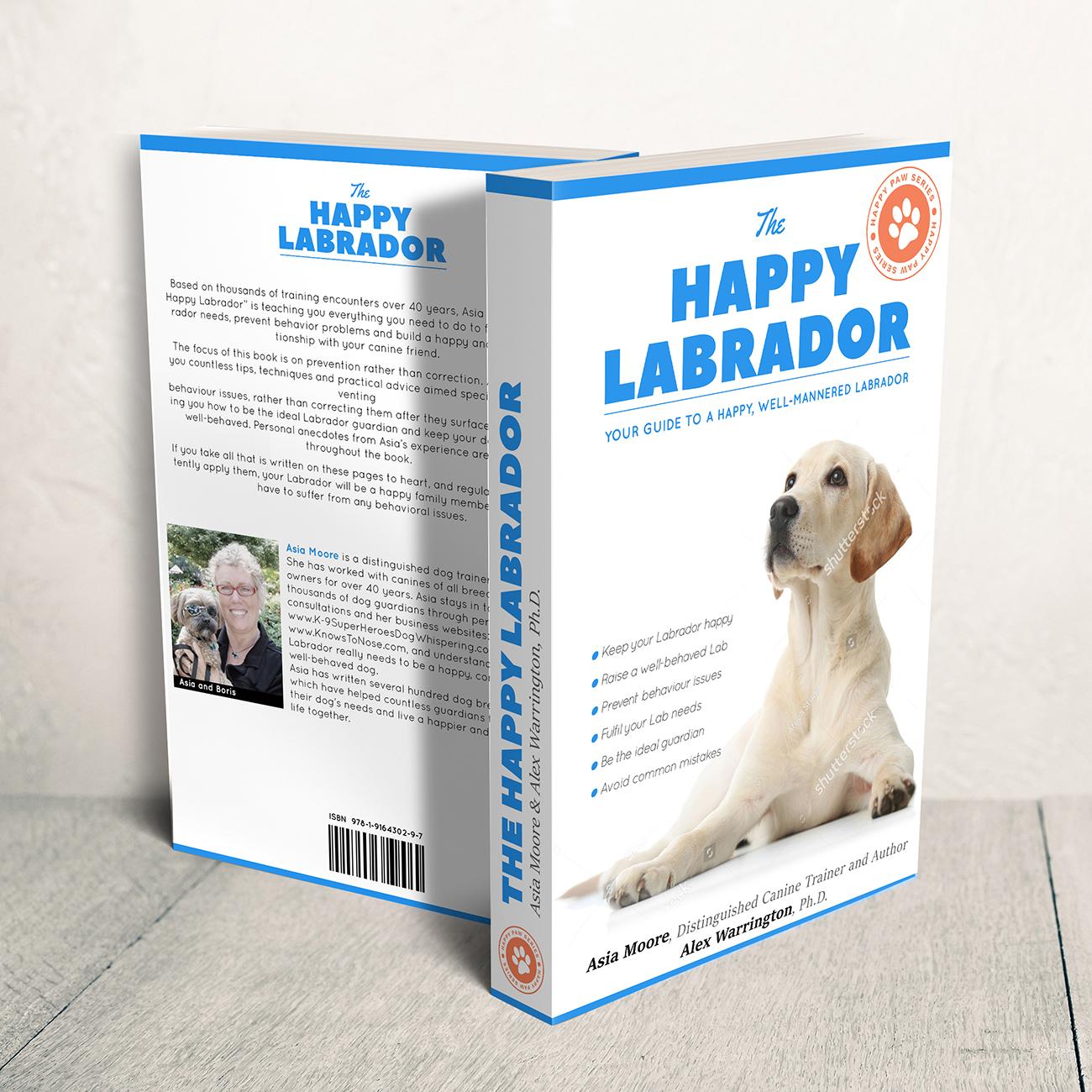 Book cover design 'Happy Labrador' by Ana Balog design
