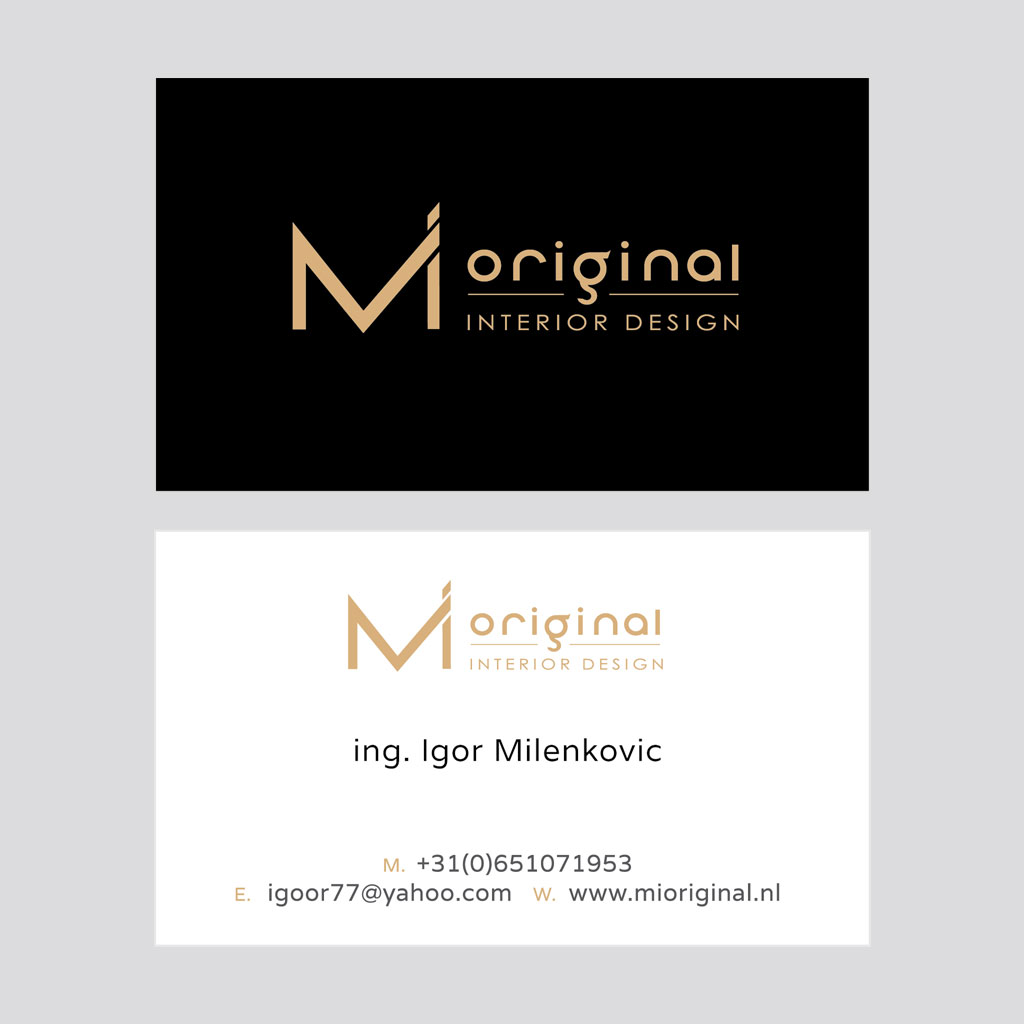 MI original logo design & card design