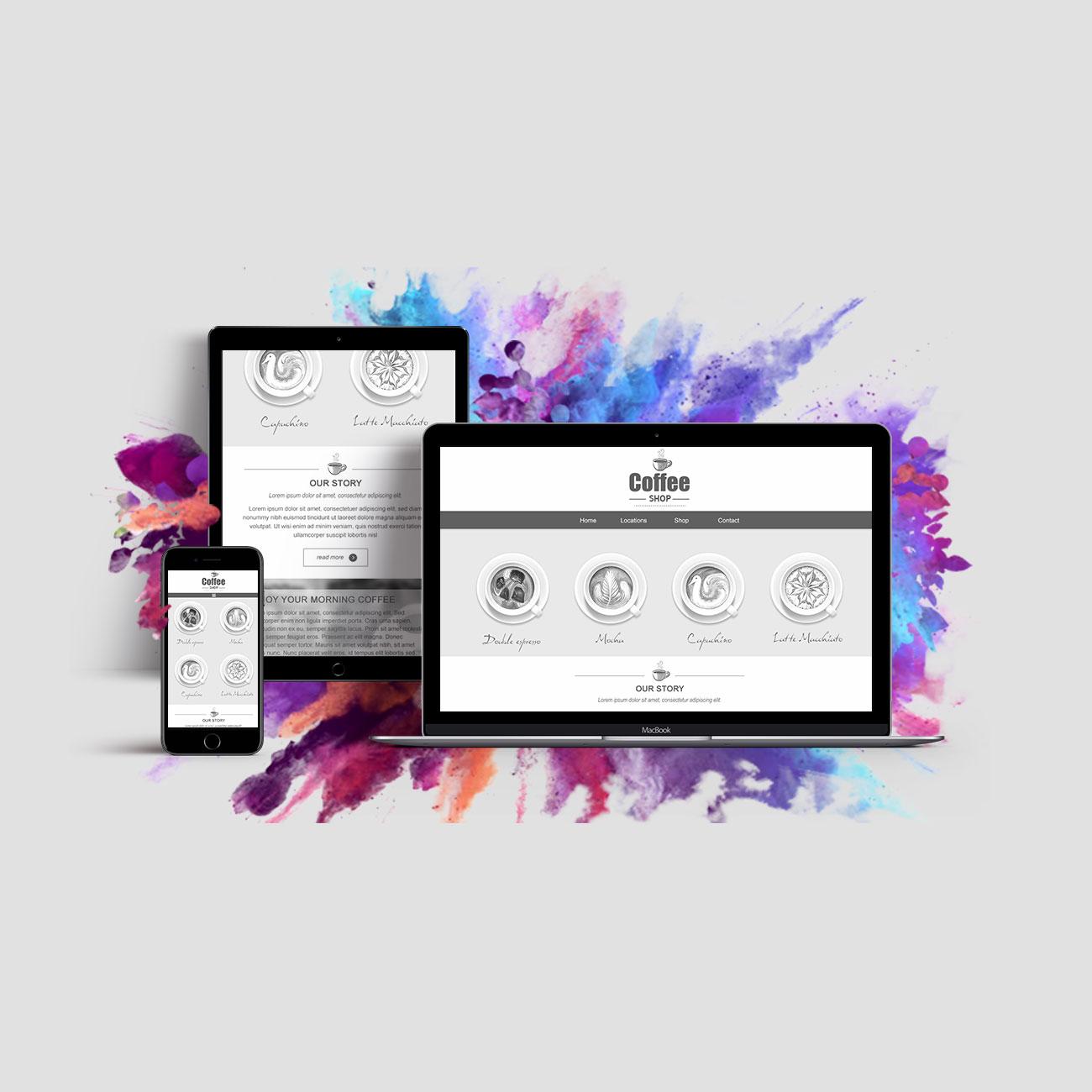 Responsive web design - website banner design