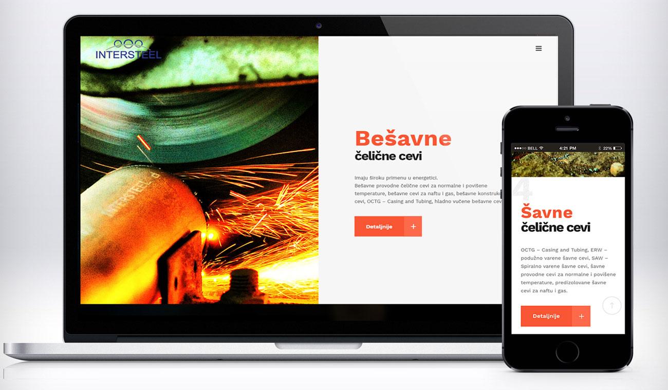 Website design for Intersteel - responsive design by Ana Balog design