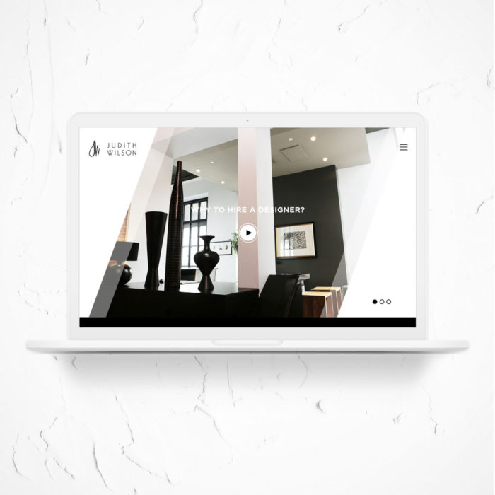 Website redesign for Judith Wilson by Ana Balog design