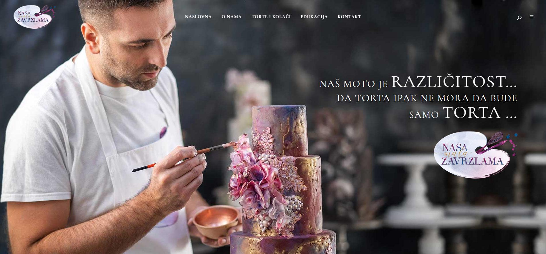 WordPress website for Cake studio banner