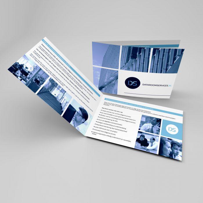 Leaflet design for Dataroomservices
