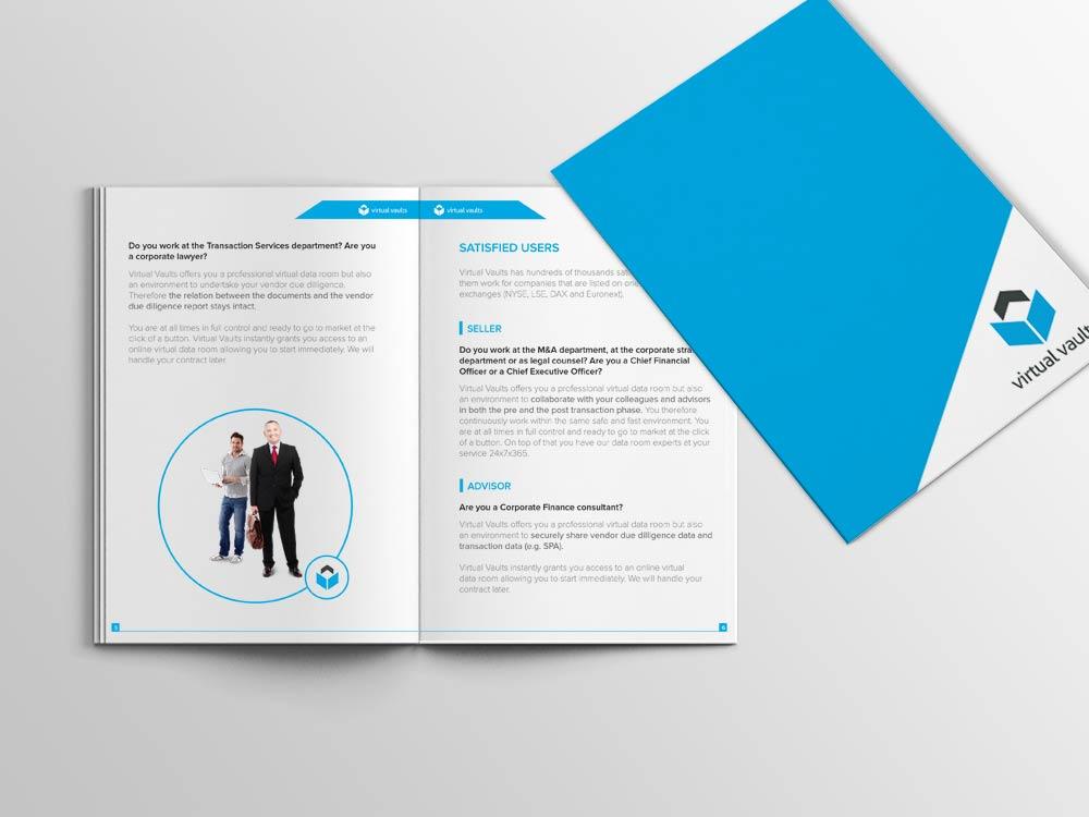 Brochure design for virtual data room