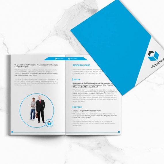 Brochure design for Virtual Vaults
