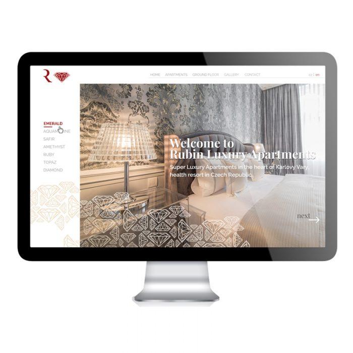 Luxury apartments website design