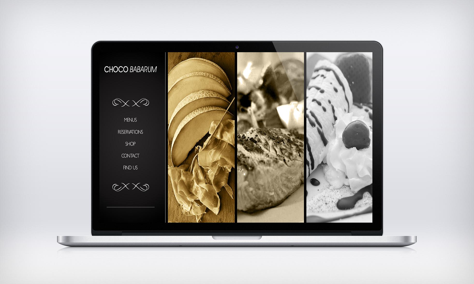 Landing page design for restaurant