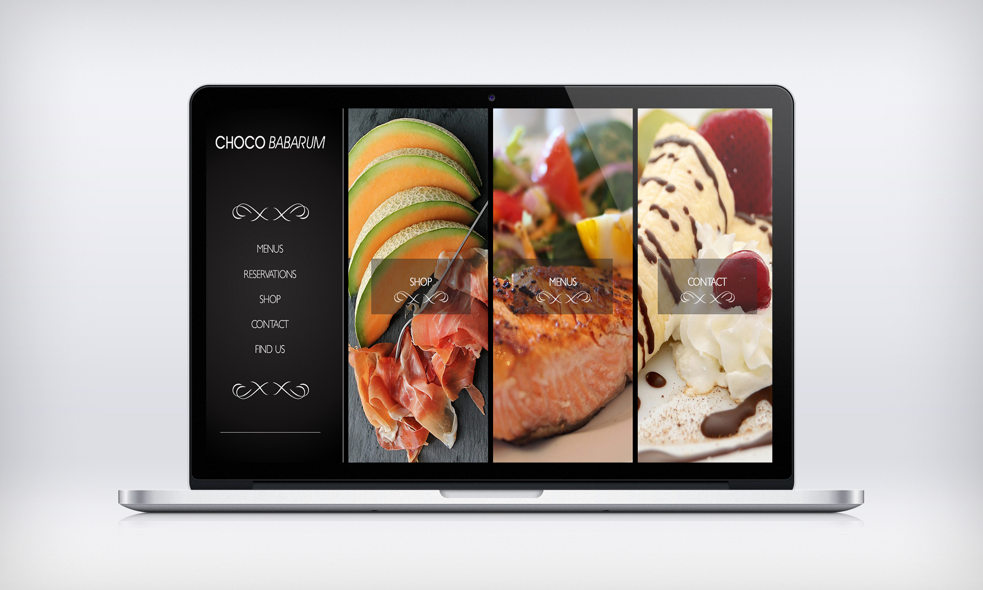 Home page design for restaurant