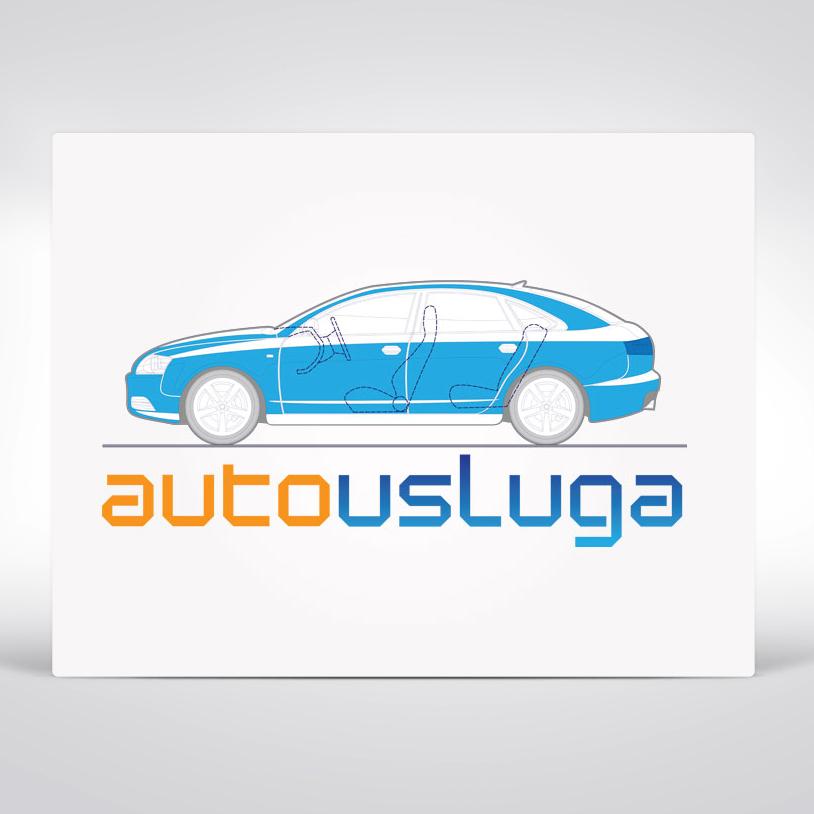 Auto usluga logo design