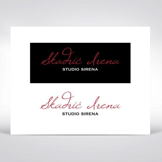 Irena Skadric nail artist logo design